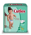 Baby Diapers, Cuties, Size 5, Over 27 lbs., 27/PK 4PK/CS