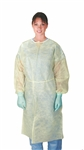 Polypropylene Isolation Gowns, Regular/Large, Yellow, 50/CS