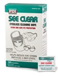See Clear, Eyeglass Lens Cleaning Wipes, 120/BX, 12BX/CS