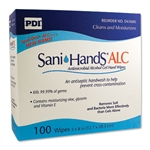 "Sani-Hands, Antimicrobial, Alcohol, Gel, Hand Wipes, 8""x 5.3"", 100/BX, 10BX/CS"