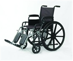 "Wheelchair, 18x16"", Fixed Full Arms, Elevating Legrests"