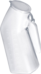 Drive Medical Male Urinal with Cap, 32 oz., White, 2/PK 3PK/BX