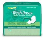 "Fresh Times, Maxi Pads with Wings, 5.5"", Super Long, 16/BG 12BG/CS"