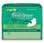 Fresh Times, Ultra Thin Maxi Pads with Wings, Super Long, 16/BG 12BG/CS
