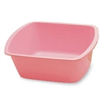 Rectangle Wash Basin, Polypropylene, 6 Quart, Dusty Rose, 50/CS