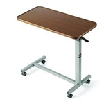 "Auto-Touch Overbed Table, 30"" x 15"" x 3/4"", 29"" to 45"""