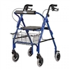 Invacare Adult Rollator with Basket, Blue