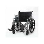 "Wheelchair, 22x18"", Heavy Duty, Desk Length Arms, Elevating Legrests"