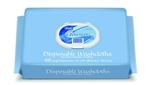 "Disposable Premium Washcloths, Press and Pull Softpack, 12"" x 8"", 48/PK, 12PK/CS"