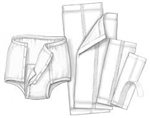 Undergarment, Surecare, Brief Liner, 60/CS