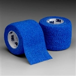 "Coban Self-Adhesive Bandage, Blue, 4"" x 5 Yds., Non-Woven Material/Elastic Fibers, Non-Sterile, 18/BX"