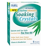 Tea Tree Ultimates Soaking Crystals, Peppermint, 6/BX