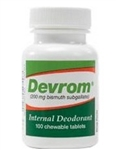 Devrom Chewable Tablets (Internal Deoderant), 100/Bottle