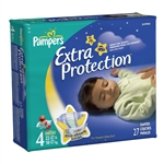 Pampers Extra Protection, Size 4 Diapers, Jumbo Pack 27/PK, 4PK/CS