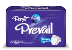 "Briefs, Prevail, Per-Fit, Limited Mat Body Shaped, 40-49"", Regular, Moderate-Heavy Absorbency, Lavender, 20/PK 4PK/CS"