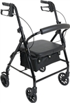 "ProBasics Aluminum Rollator, 6"" Wheels, Black, 300 lb Weight Capacity"