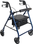 "ProBasics Aluminum Rollator, 6"" Wheels, Blue, 300 lb Weight Capacity"