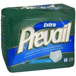 "Prevail Protective Underwear, Extra Absorbency, 58-68"", X-Large, White, 14/PK, 4PK/CS"