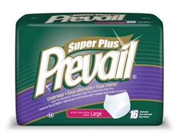 "Briefs, Prevail, Pull-On, 44-58"", Large, Super Plus Absorbency, Blue, 16/PK 4PK/CS"