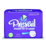 "Prevail Protective Underwear for Women, Classic Fit, 44-58"", Large, Elastic Waist, 18/BG 4BG/CS"