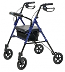 Set n' Go Wide Height Adjustable Rollator, Blue
