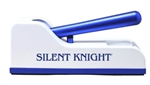 Silent Knight Pill Crusher, Hand-Operated, Push Down Mechanism, Tan