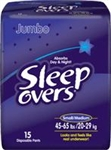 Diapers, Sleep Overs, Small/Medium, 45-65 lbs., 15/PK, 4PK/CS
