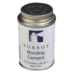 Torbot Liquid Bonding Adhesive Cement with Brush in Cap, Latex, 4 oz Can, 12/CS