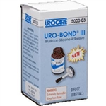 Uro-Bond III Brush-on Adhesive, 3 oz Glass Jar, Silicone Based, Flammable, Water Resistant