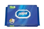 "Prevail, Incontinence Wipes, 12x8"", Single Hand, Disposable, 96/PK 6PK/CS"