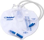 Drainage Bag, Standard Vented, W/ Double Hanger Anti-Reflux Valve, 2,000 mL