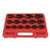 "Astro 7115 15 Piece 3/8"" Drive Metric Flare Nut Crowfoot Wrench Set"