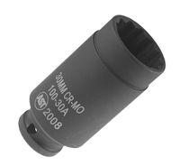 "Assenmacher 100-30A 1/2"" Drive Deep Socket - 30mm"