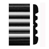 "Protekto-trim 38-352 2-1/2"" Cheyenne - Silverado Black/Chrome Molding, 26' Kit"