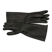 "Cyclone 2022 18"" Unlined Rubber Gloves, Size 11, Medium Weight, Pair"