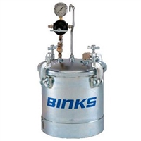 Binks 83C-210 2.7 Gallon Code Pressure Tank, Single Regulation