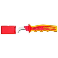 Gedore VDE 4527 VDE Cable Knife with Hooked Blade