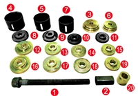 JM Auto Tools A8123 Honda Front/Rear Axles Wheel Bearing Removal And Installation Tool Set
