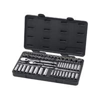 "KD Gearwrench Tools 83000 68 Pc. 1/4"" & 3/8"" Drive 6 & 12 Point Standard & Deep SAE/Metric Mechanics Tool Set"