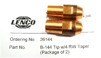 Lenco 26144 B-144 Welding Tip with 4 Rw Taper (Pk of 2)