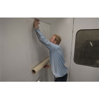 "RBL 438 Spray Booth Wall Protective Film - Clear - 36"" x 100', 1 Roll"