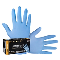 SAS Safety 6608 Derma-Lite Nitrile Gloves, 100/bx, Large