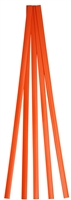 "Urethane Supply R04-04-01-OR Polyethylene Flat Stick (LDPE), Orange,  (3/8"" x 1/16""), 5 ft."