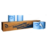"USC 38036 Premium Polycoated Blue Masking Paper, 36"", 1 roll per case"