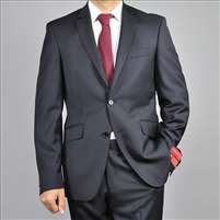 Black Classic Fit Wool Suit