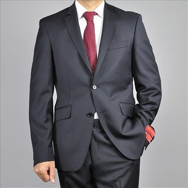 Barry's Menswear Black Classic Fit Wool Suit