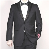 Barry's Menswear Black Wool Classic Fit Tuxedo