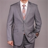 Barry's Menswear Solid Gray EuroSlim Suit