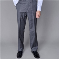 Barry's Menswear Solid Gray Dress Pants