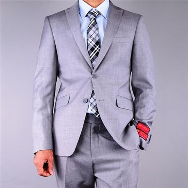 Barry's Menswear Light Gray Textured Suit